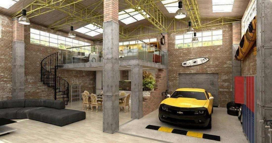 This Is The Ultimate Dream House According To Pinterest Users Building A Garage Luxurious Garage Garage Design