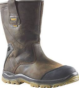Dewalt Tungsten Waterproof Rigger Safety Boots Size 8 Brown Nubuck Leather Upper With Ankle Support And High Toe Profile B Rigger Boots Work Boots Men Boots