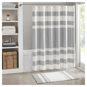 Spa Waffle Shower Curtains with 3M Treatments