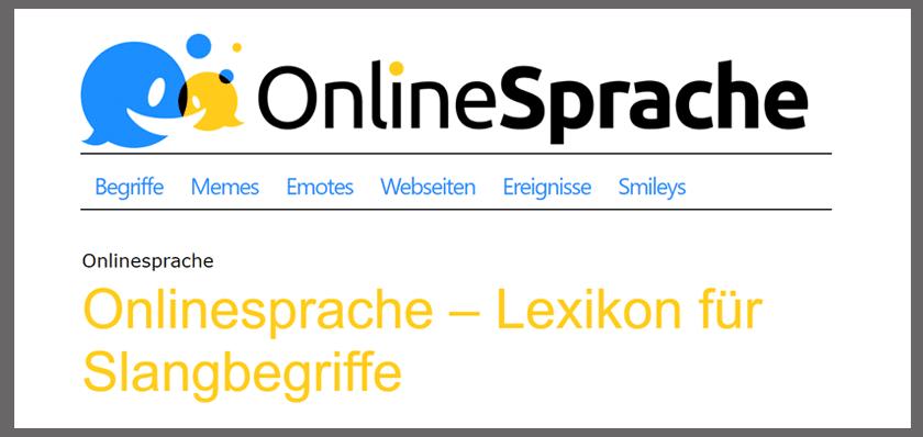 Die Onlinesprache Jugendsprache Und Sprache Im Netz Sprache Deutsch Lernen Gehobene Sprache