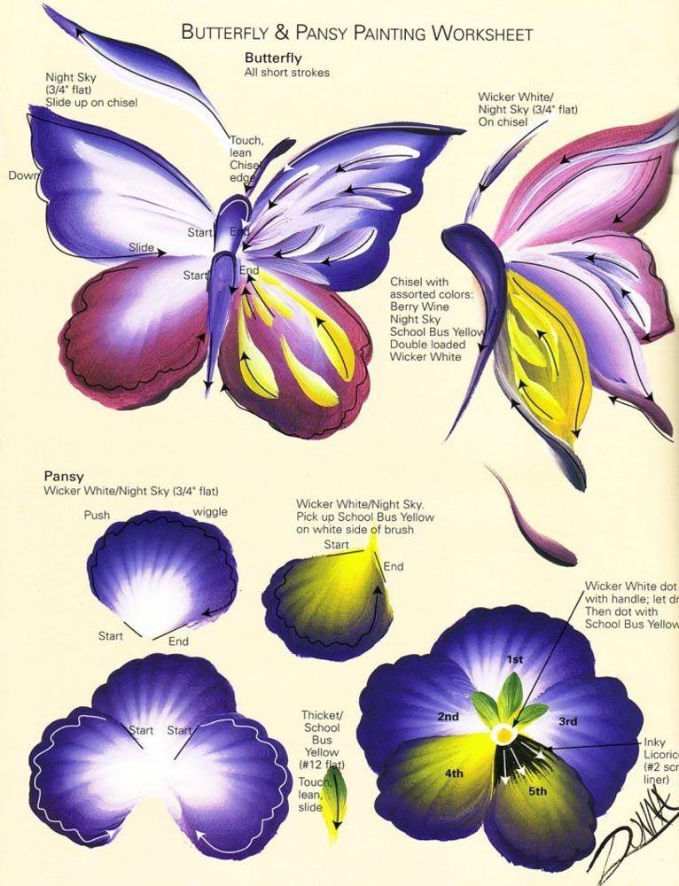 Butterfly Flower | Painting, one stroke in 2019 | One stroke