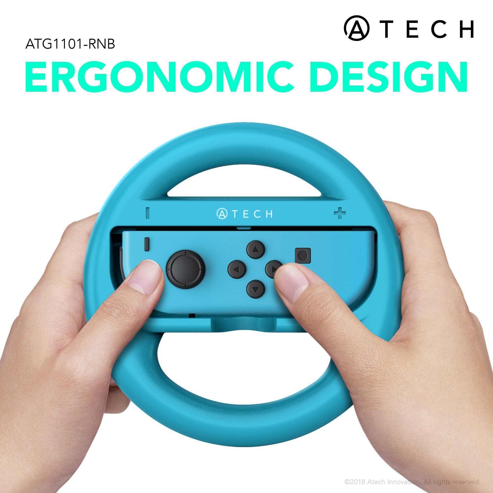 Atech Innovation Nintendo Switch Steering Wheel Mario Kart