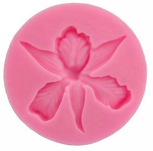 Orchid Flower Shape Embossing Fondant Cake Decorating Tools Moulds Sugar Art Tools Silicon Mold 3d Fondant Clay Sugarcraft Cake Topper In 2020 Silicone Molds Candle Molds Diy Fondant Silicone Molds