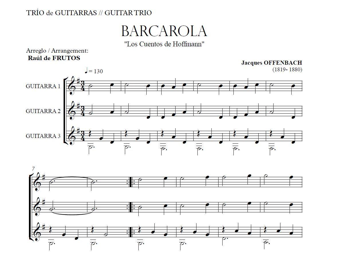 http://www.guitarraul.com/p/48/barcarola-offenbach Barcarola OFFENBACH Guitar Trio