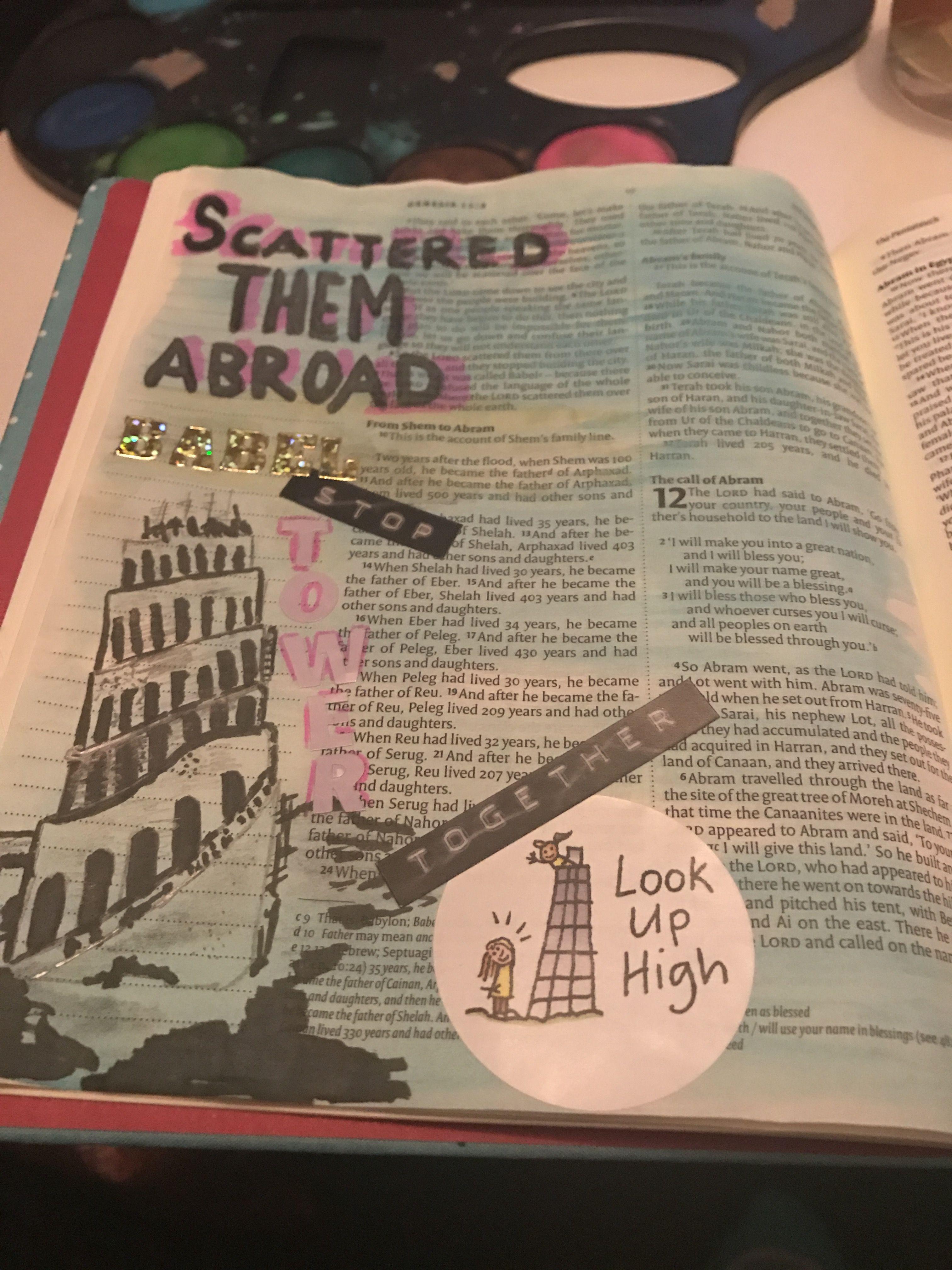 Tower of Babel #Bible journaling   Bible Class Ideas   Tower of