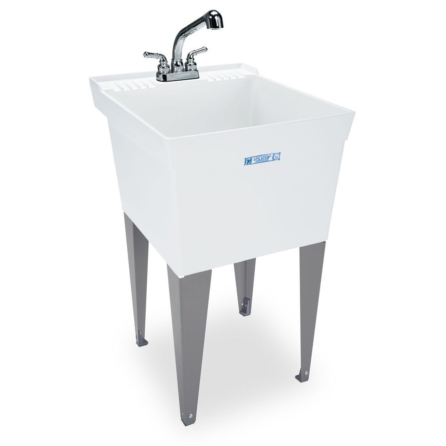 Mustee X White Freestanding Polypropylene Utility Sink With Drain And Faucet.  This Is The One I Want To Get From Lowes.