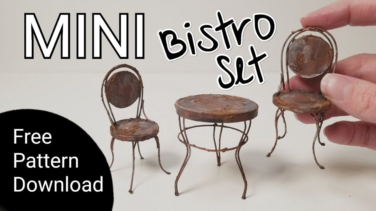 Rusty Wire Bistro Set - Miniature Furniture Tutorial - Abandoned