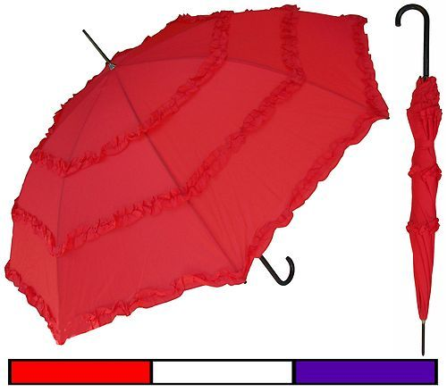 """RainStoppers Rain Lot of 12-32/"""" Arc Children Kid Lace Parasol Umbrellas"""