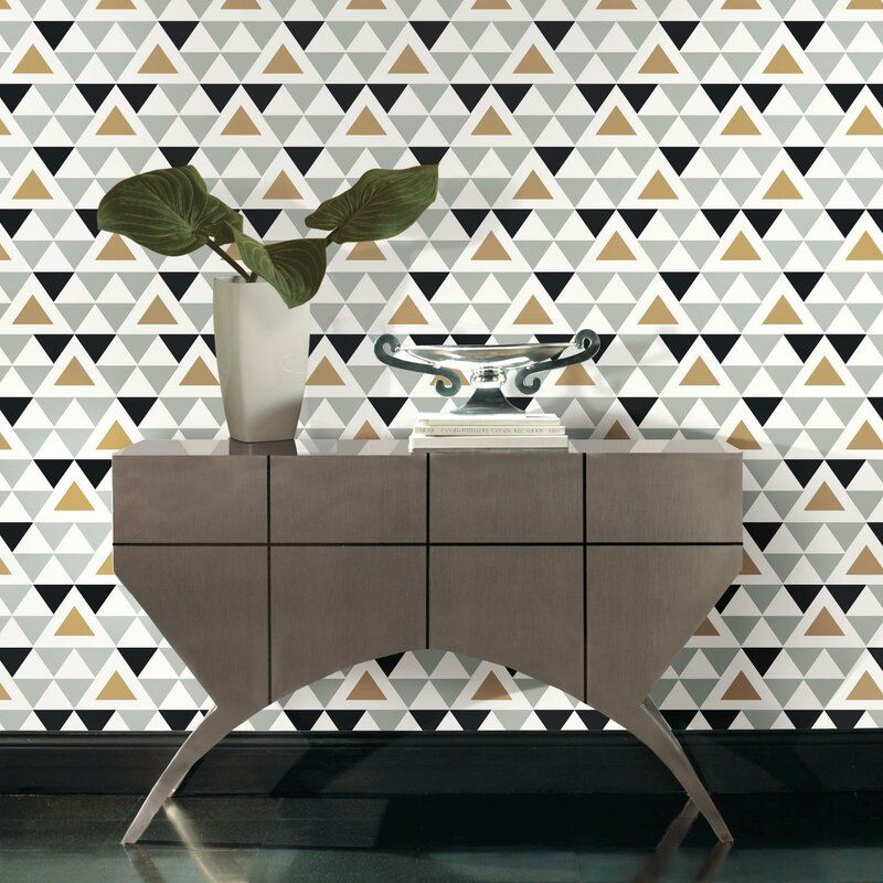 Hartley Geometric Triangle 16 5 L X 20 5 W Peel And Stick Wallpaper Roll Reviews Joss In 2020 Peel And Stick Wallpaper Decorating Solutions Temporary Decorating