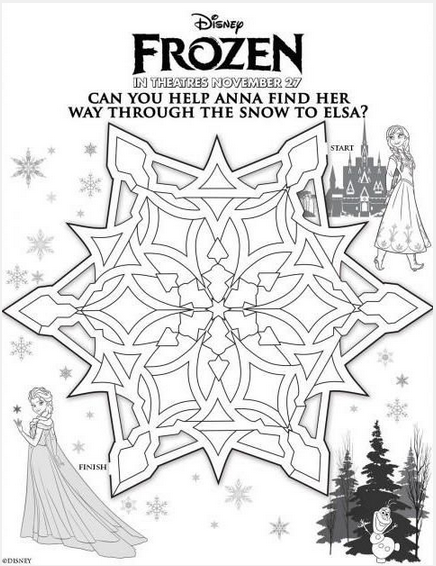 FREE Frozen Printable Elsa And Anna Color Sheet For FROZEN