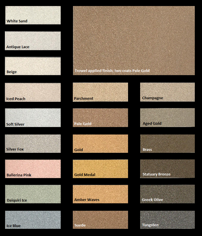 Modern Masters Metallic Plasters Color Chart Texture Painting Metallic Painted Furniture Paint Charts
