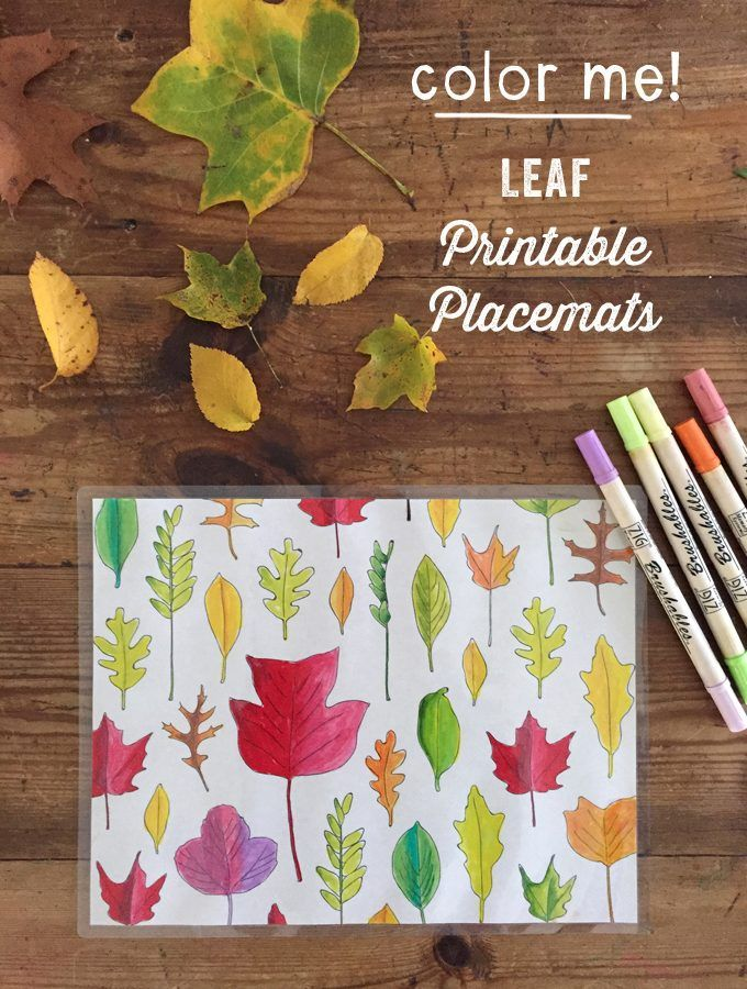 Print Out These Free Leaf Coloring Pages And Laminate Them For Beautiful Fall Placemats