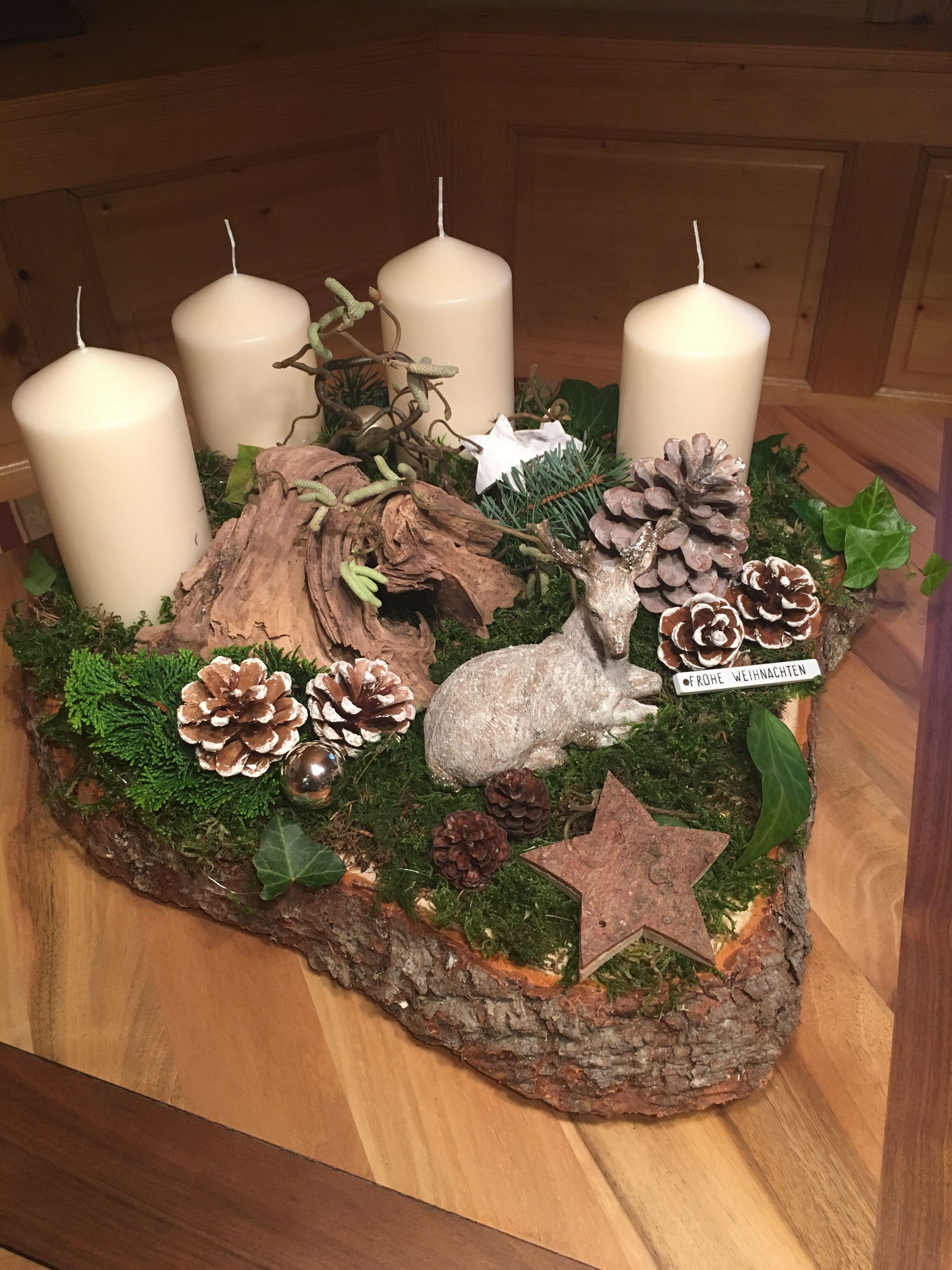 Deko Weihnachten #holzscheibendeko