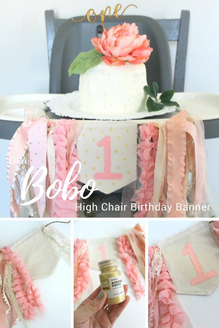 Diy Boho 1st Birthday Highchair Banner Diy Birthday Banner