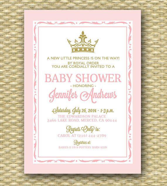 image regarding Free Printable Prince Baby Shower Invitations called Printable Royal Little one Shower Invitation Royal Boy or girl Boy Shower