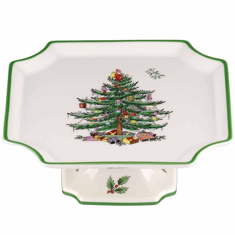 Spode Christmas Tree Footed Square Cake Plate in 2018 Products