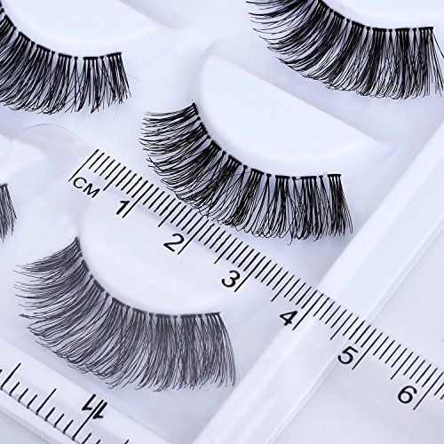 10 Pairs Handmade 3D False Eyelashes Natural Look