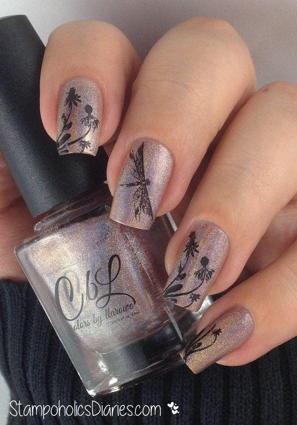 Dragonfly nails - Dragonfly Nails Nails Pinterest Dragonflies, Dragonfly Nail