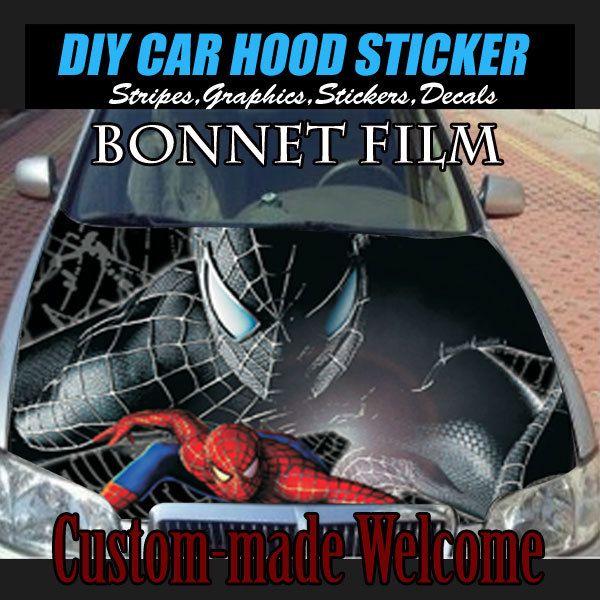 Hd diy spider man stickers auto stickers hood auto car vinyl decal