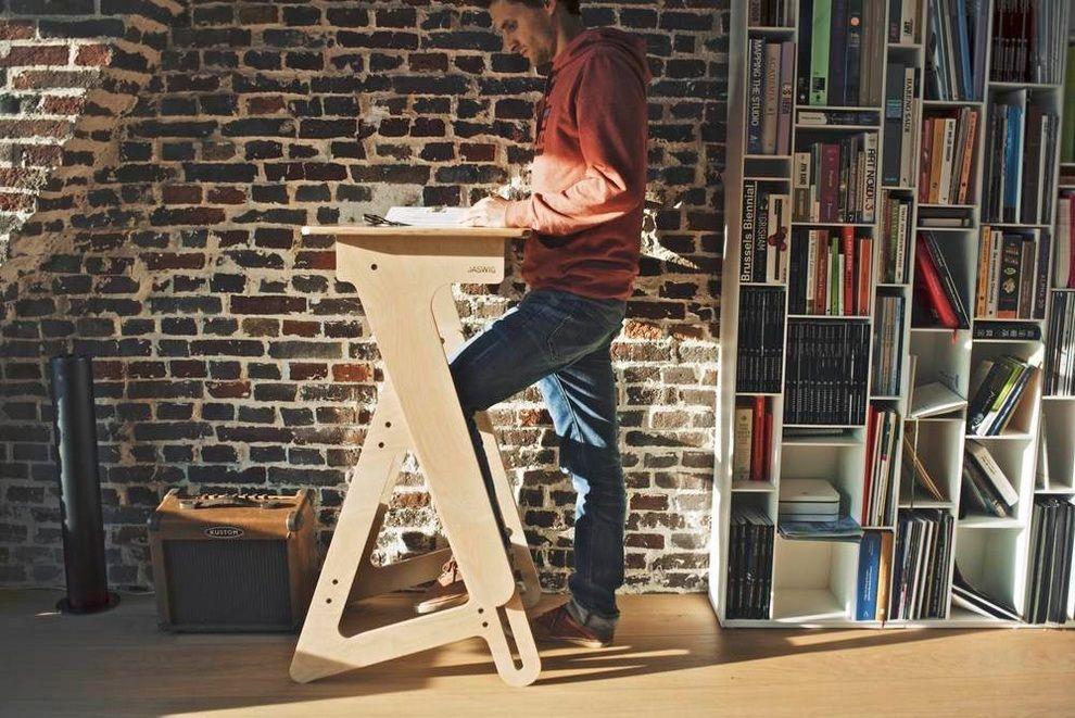 Jaswig Standup Adjustable Standing Desk Made Of Wood 2 Mindspace