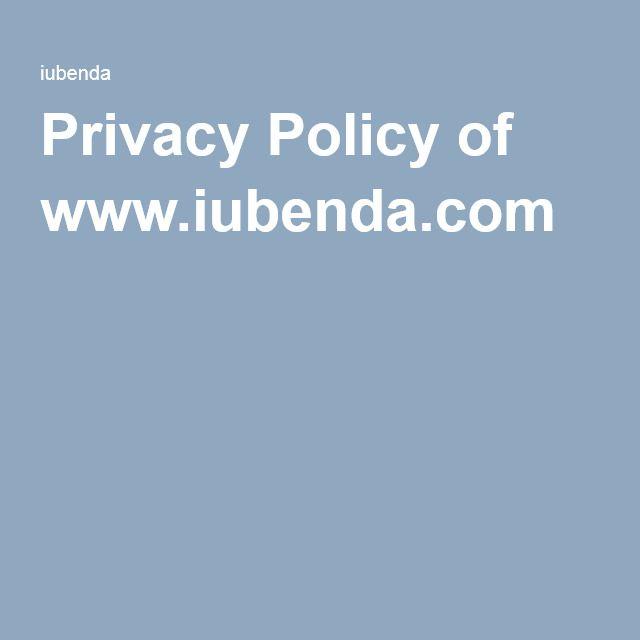 Privacy Policy of www.iubenda.com