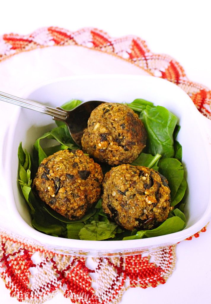 A Meat Free Dinner The Most Carnivorous Eater Will Enjoy Four Ingredient Vegan Eggplant Balls Are A Hearty Eggplant Recipes Vegetarian Recipes Vegan Dishes