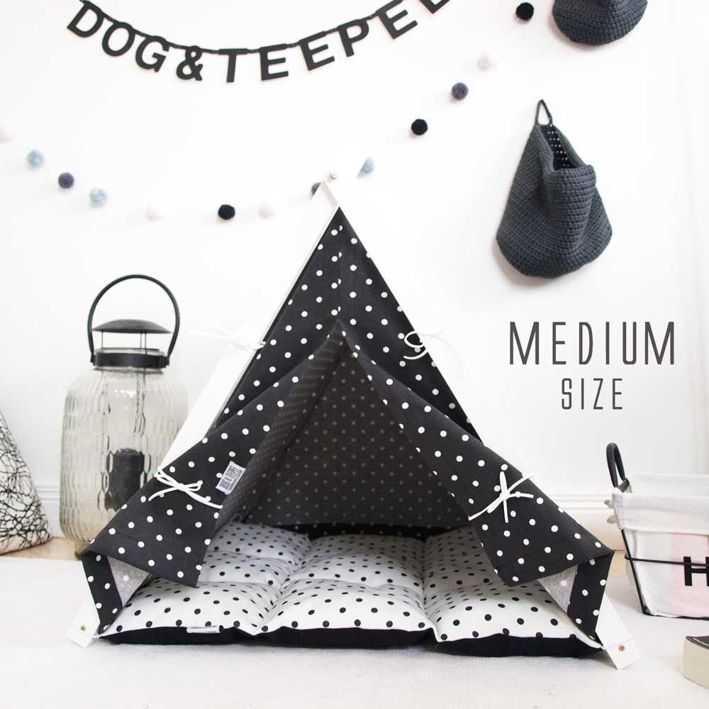 tipi noir et blanc tipi pour chien panier pour chien. Black Bedroom Furniture Sets. Home Design Ideas