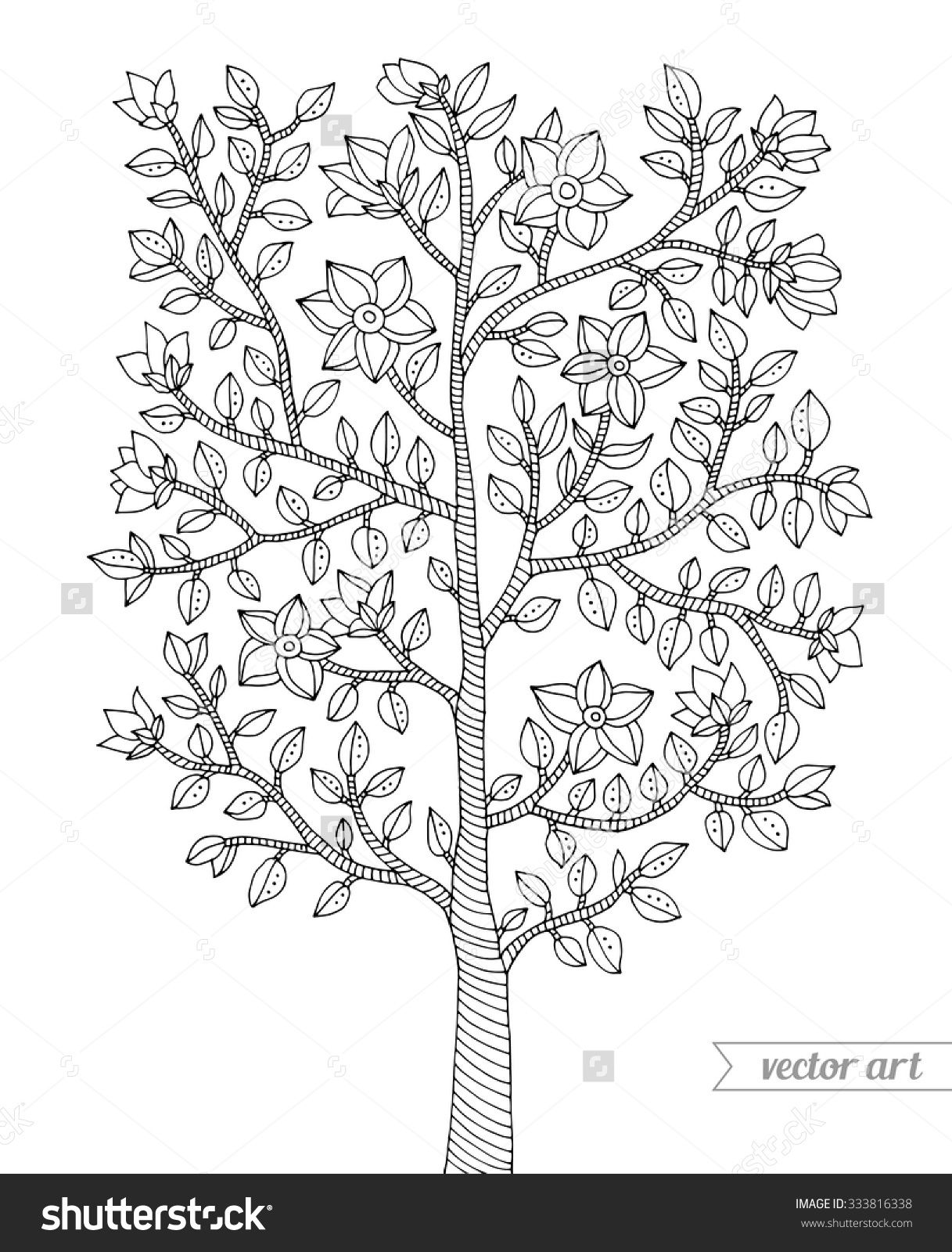 Inspirational Coloring Pages Trees Plants And Flowers