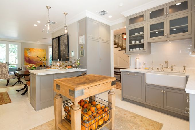 Kitchen Sink And Island View Jpg 680 453 Pixels Lake House Kitchen Grey Kitchen Cabinets Home Kitchens