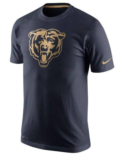 16264529 Men's Chicago Bears Nike Navy Championship Drive Gold Collection ...