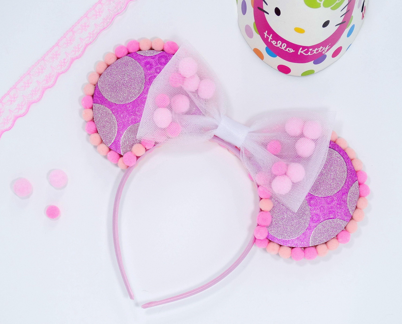Pink Minnie Mouse Ears  Baby Headband  Baby Minnie