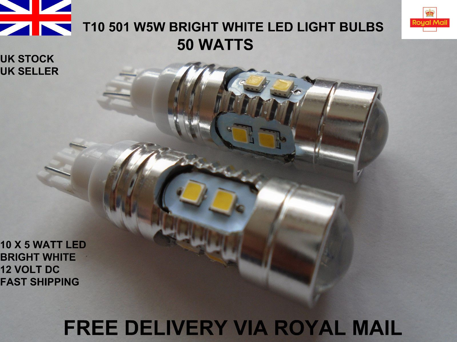 2x T10 501 W5w Wedge Cree Led Smd Bright Xenon White Light Bulbs Lamps 12v 50w White Light Bulbs Light Bulb Lamp Bright White Led