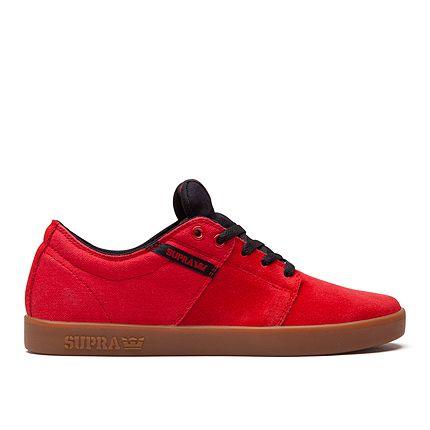 SUPRA STACKS II | RED/BLACK - GUM | Official SUPRA Footwear Site