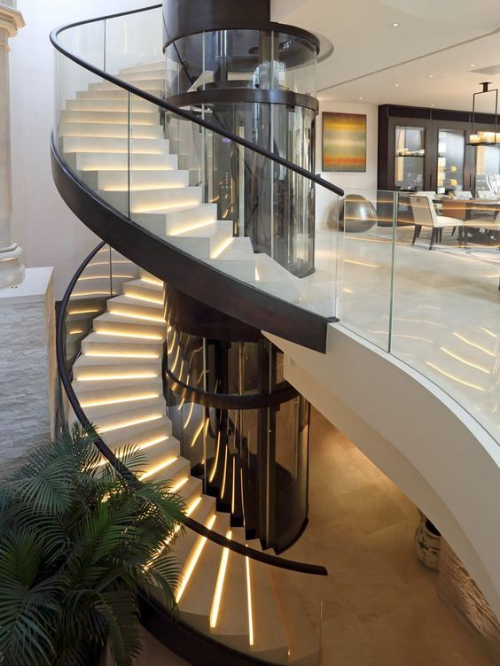 House stairs design glass stair also best entrance hall case dream home images rh pinterest