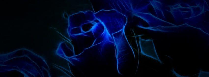Blue roses art facebook cover encabezado twitter