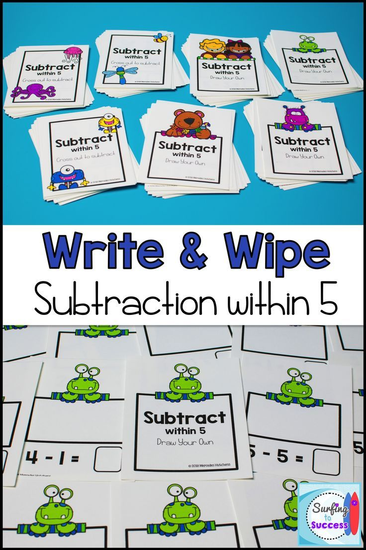 Subtraction Write and Wipe: Subtraction within 5 | Subtraction ...
