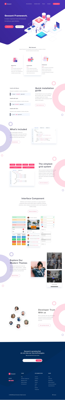 Geosant Framework Attachment Web Design Web Design Inspiration Website Template