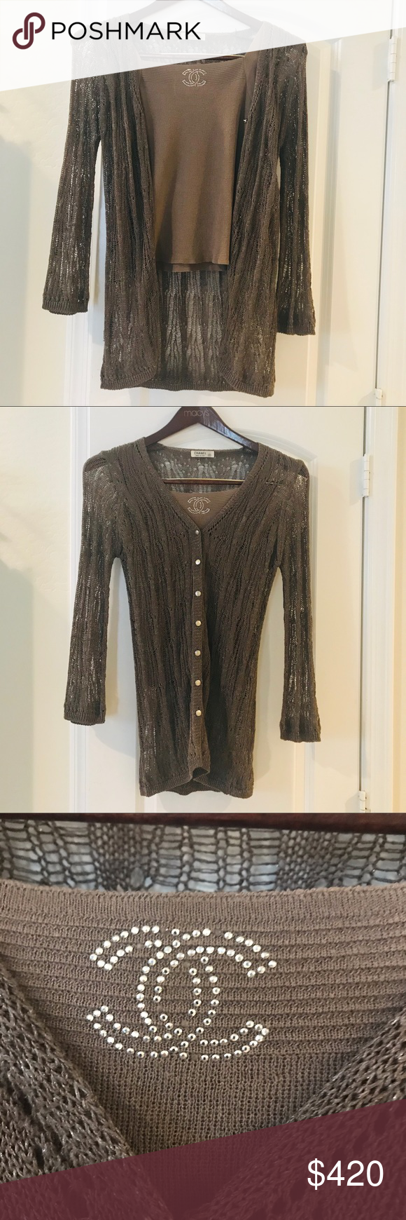 Metal accents and gold. Love the 20s Sale Cardigan Sweater Black trimmed in lace A very classic look