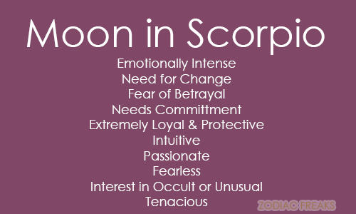 Scorpio moon sign traits