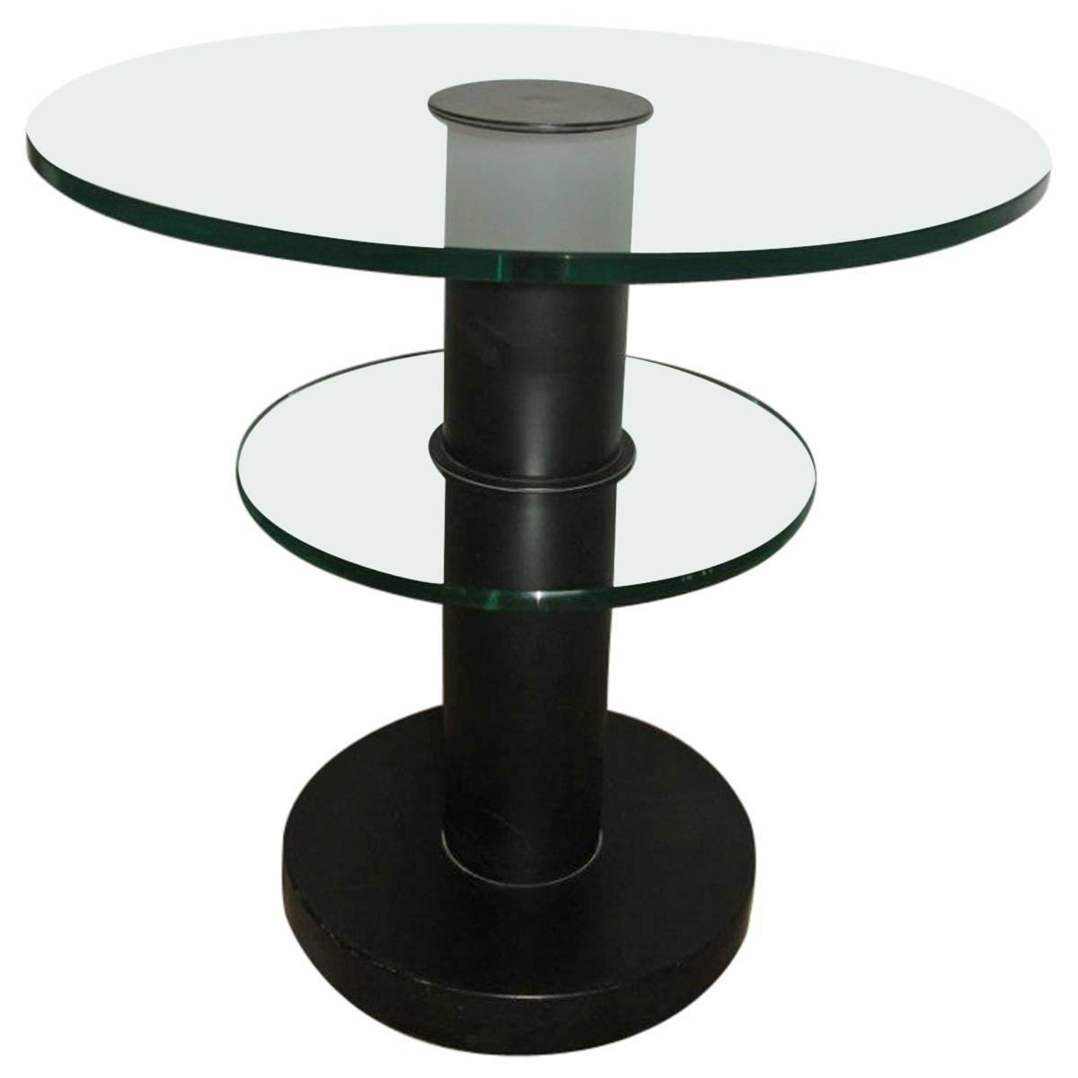 Round Coffee Table Gio Ponti For Fontana Arte 1960s Black Trasparent Glass Elegant Coffee Table Round Coffee Table Mahogany Coffee Table [ 1200 x 1200 Pixel ]
