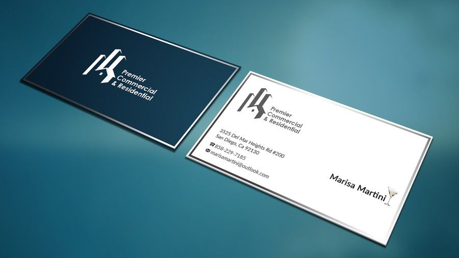 Create A Classy And Cutting Edge Real Estate Business Card By Dessins499