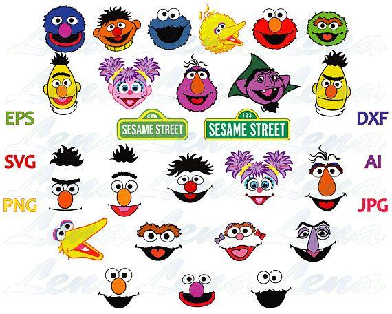 Sesame Street Face Svg Sesame Street Sign Shirt Clipart