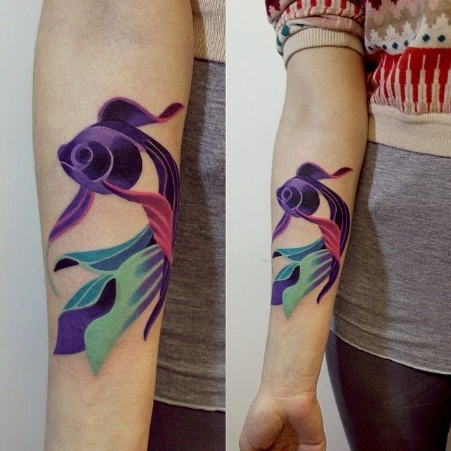 Unique Color Tattoo Techniques Google Search With Images Tattoos Beautiful Tattoos Watercolor Fish Tattoo