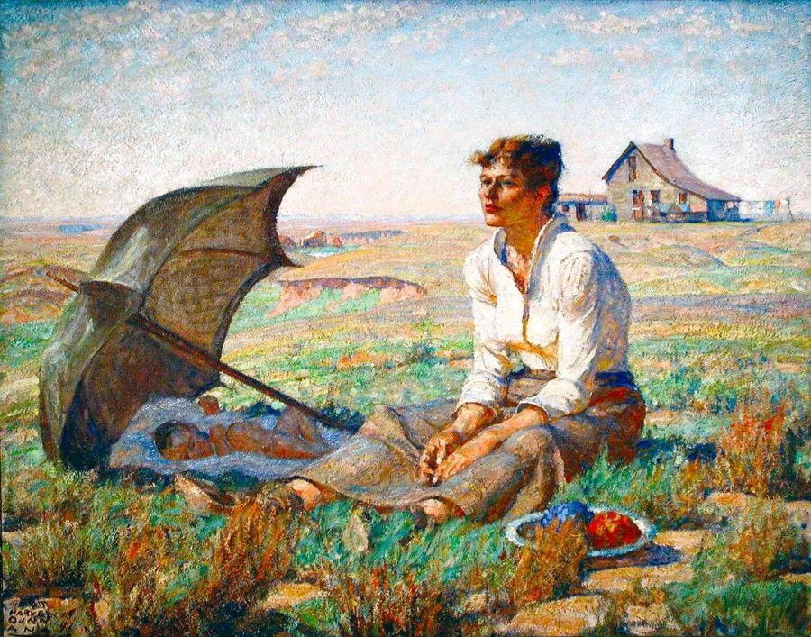 """Dakota Woman"" by Harvey Dunn. Dakota Discovery Museum"