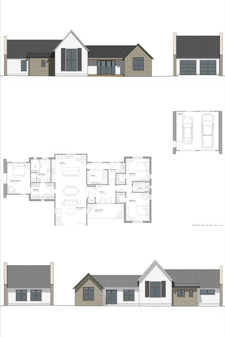 Mirandaise Residential Architecture French Farmhouse Style One Storey House