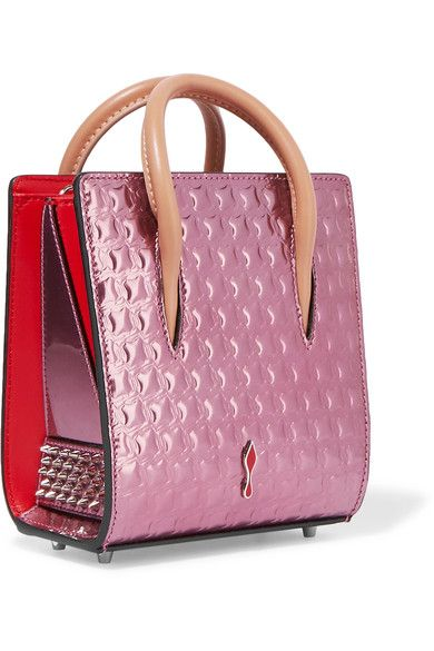 16bd7f47763 Christian Louboutin - Paloma Nano Embellished Metallic Textured ...
