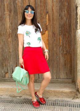 red shoes. Look estilo Lady 2016.