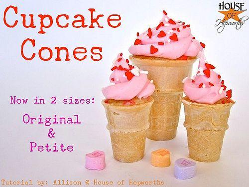 Cupcake Cones A New Petite Version Cupcake Cones Yummy
