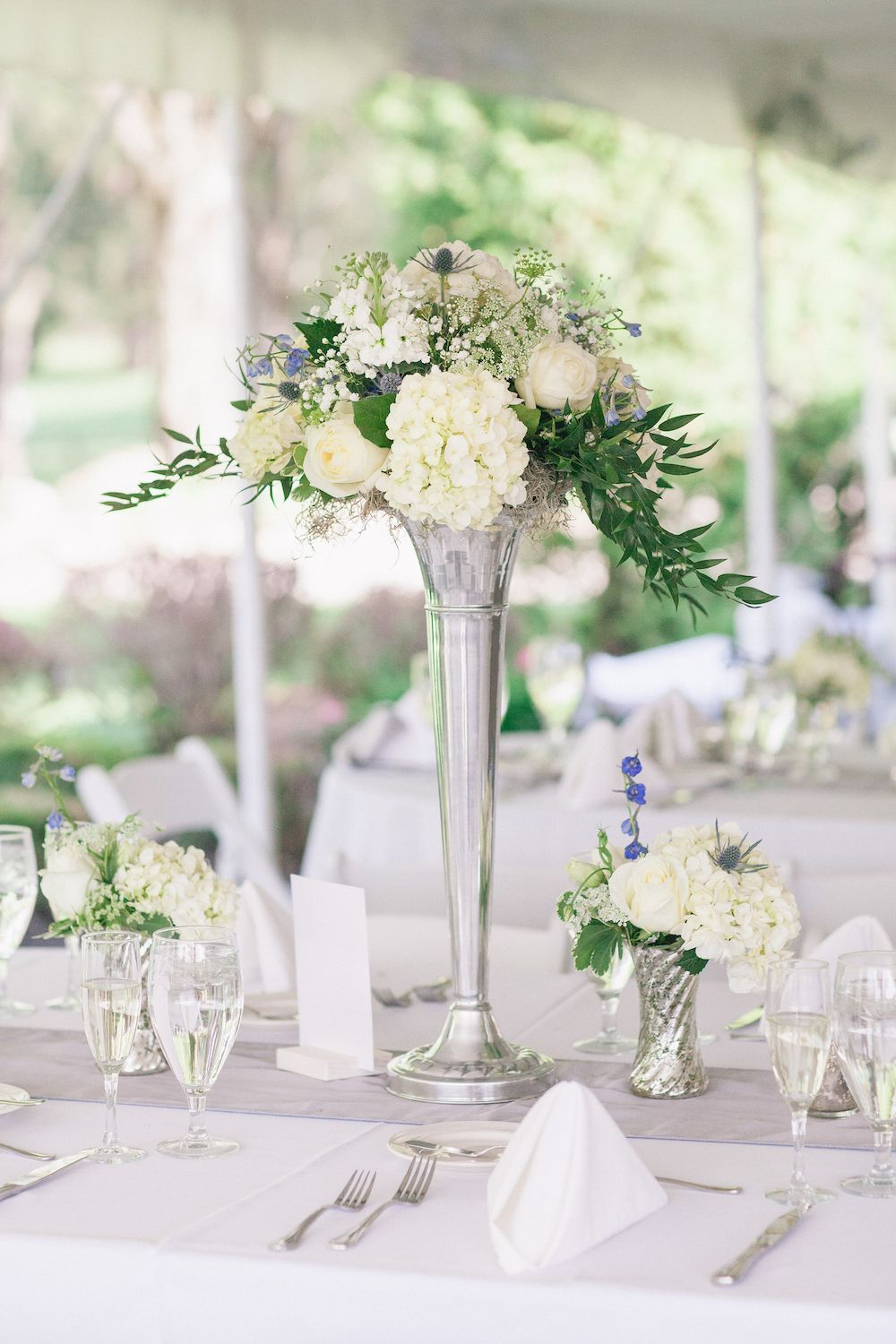 Alfresco Ceremony + Romantic Tented Reception in New Jersey | Blue ...