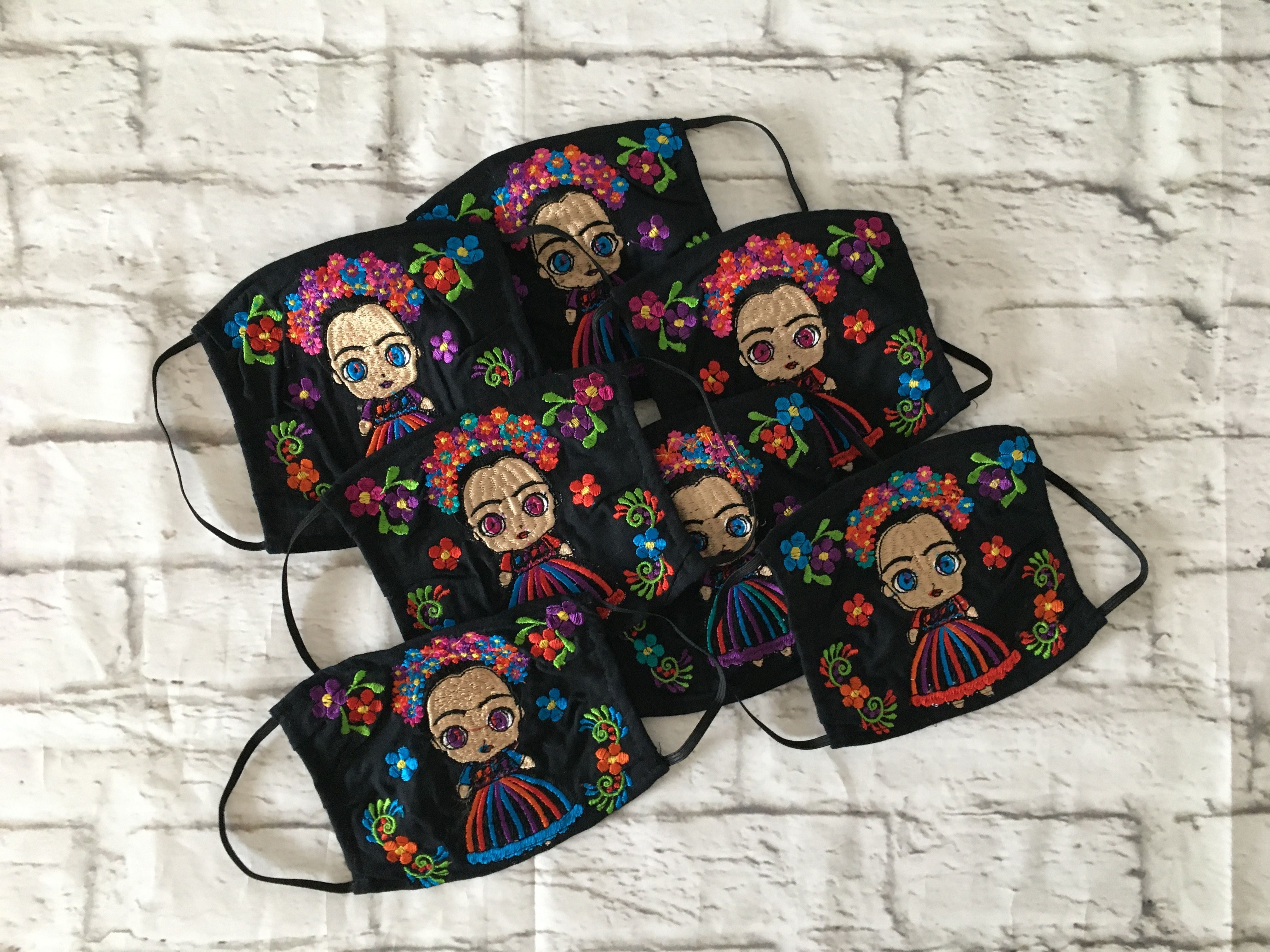 Mexican Embroidered Fabric Face Masks 😷Handmade in Chiapas, Mexico 🇲🇽   #handmadefacemask #handmademask #mexicanmask #embroideredmask #topabocas #cubrebocas #cubrebocasdetela #artesaniasmexicanas #fabricmask #hechoamano #hechoenmexico #handmade #madeinmexico